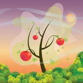 An apple tree — Stock Vector