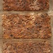 Stock Photo: Three red bricks