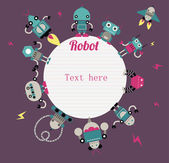 Robots kid's scrapbook — Stockvektor