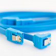 Blue SATA cables — Stock Photo