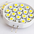 Stock Photo: LED light bulbs G4 with 18 LEDs