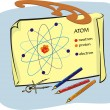 Stock Vector: Physics - atom diagram