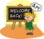 School`s welcome - distressed — Stock Vector