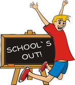 School`s out — Stock Vector