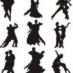 Постер, плакат: Dancing silhouettes