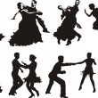 Stock Vector: Dance icons