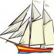 Stock Vector: Sailer