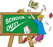 School`s out - graduation — Stock Vector
