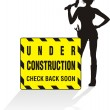 Stock Vector: Under construction - women at work