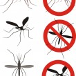 Постер, плакат: Mosquitoes warning sign