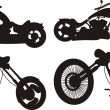 Stock Vector: Motorcycle silhouette