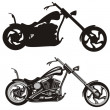 Stock Vector: Chopper - motorcycle
