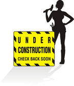 Under construction - women at work — Stock Vector