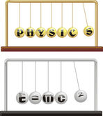 Physics - newton`s cradle — Stock Vector