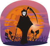 The grim reaper — Stock Vector