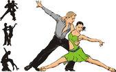 Latin dance — Stock Vector