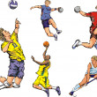 Постер, плакат: Team sports figures indoor