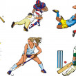 team sports figures - outdoor — Stock Vector