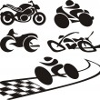 Stock Vector: Motorcycle silhouette - logo