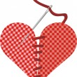 Breaking and entering - fabric heart - Imagen vectorial
