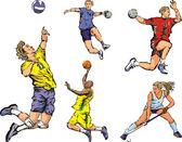 Zespół sportowców - wnętrze — Wektor stockowy
