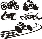 Motorcycle silhouette - logo — Stock Vector