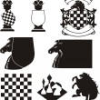 Stock Vector: Chess - emblem