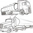 Lorry, track, tir - Stock Vector