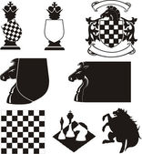 Chess - emblem — Stock Vector