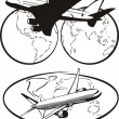 Постер, плакат: Airliners around the world