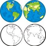 Постер, плакат: Earth hemispheres