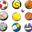 Royalty-Free Stock Vector Image: Ball sports
