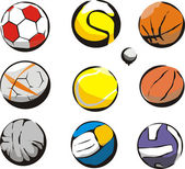 Ball sports — Stock Vector
