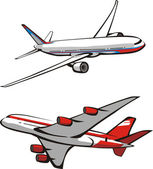 Two planes — Stock Vector