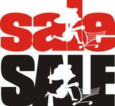 End of season sale — Stock Vector