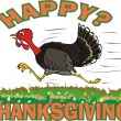Happy thanksgiving day - Vettoriali Stock