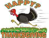 Happy thanksgiving day — Stockvector