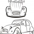Old car - old school - Stock Vector