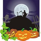 Halloween - vicious pumpkins — Stock Vector