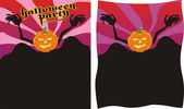 Helloween party - poster — Stock Vector