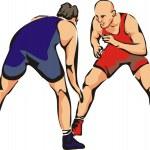 Постер, плакат: Wrestling contact sport