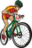 Mountainbike — Stockvector