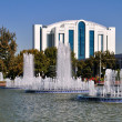Stock Photo: Fountains of Independence Square in Tashkent