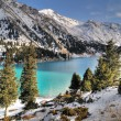 Stock Photo: Big Almaty Lake in Zaili Alatau