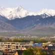 Stock Photo: Almaty uptown at foot of Tien Shan