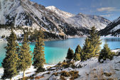 Big Almaty Lake in Zaili Alatau — Stock Photo