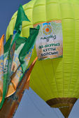 Baloon launched on Nauryz Holiday in Almaty — Stock Photo