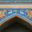 Постер, плакат: Tigers Fresco on Sher dor Madrassah in Samarqand