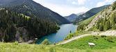 Panorama of Kolsay Lake — Stock Photo