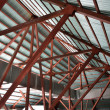 Stock Photo: Roof trusses